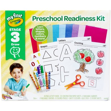 Crayola My First Preschool Workbook And Toddler Art Supplies, Gift, Over 80 Pieces (Preschool Crafts)