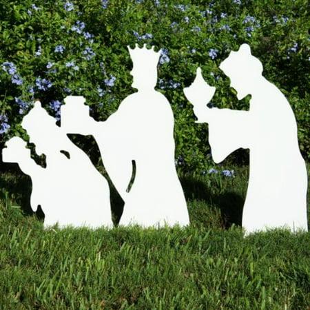 teak isle christmas outdoor 3 wise men nativity figures - Teak Isle Christmas Decorations