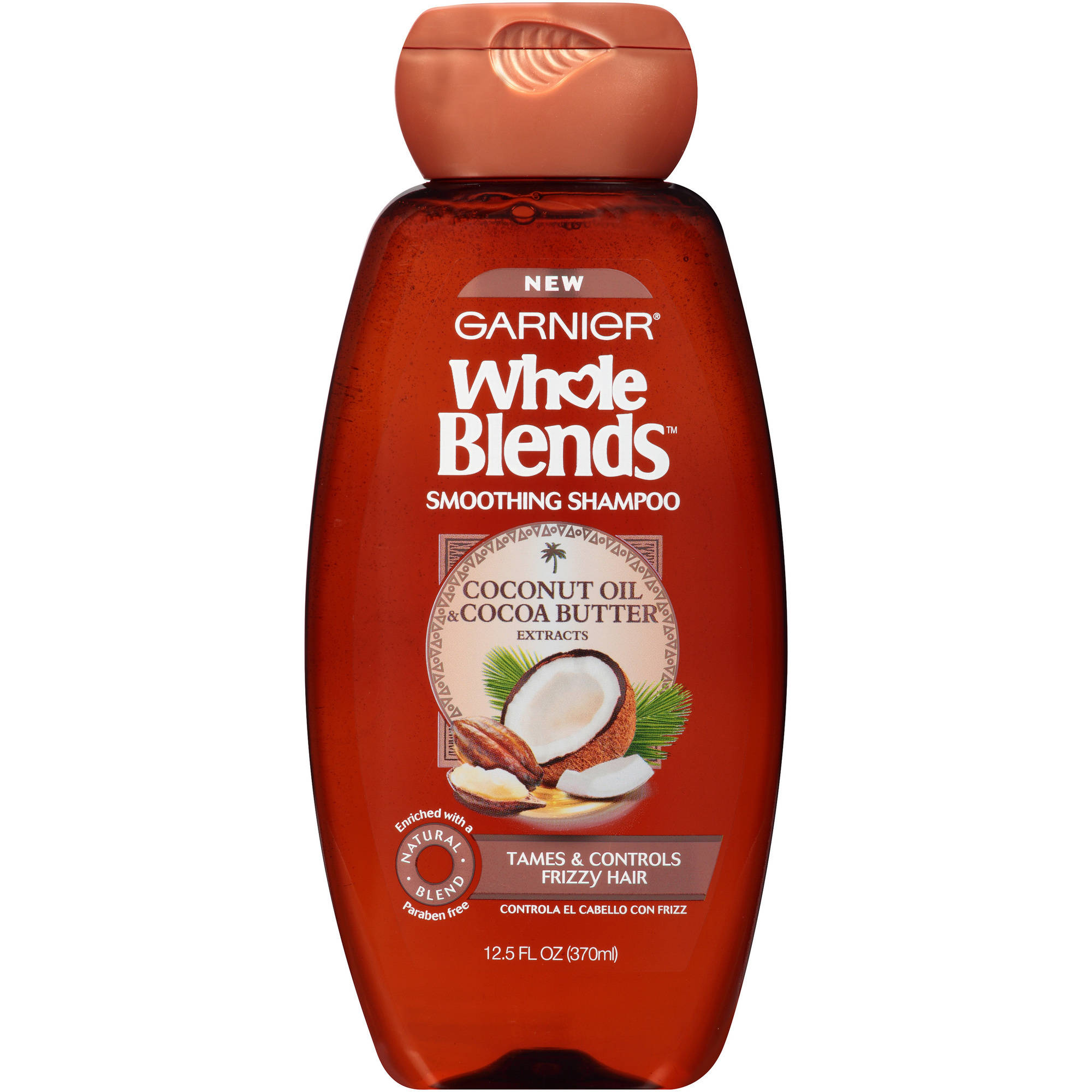 Garnier Whole Blends Coconut Oil & Cocoa Butter Extracts Smoothing Shampoo, 12.5 fl oz