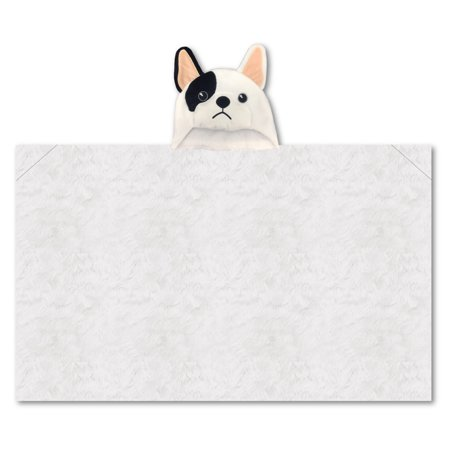 (Limited Too 'French Bulldog' Hooded Plush Throw)