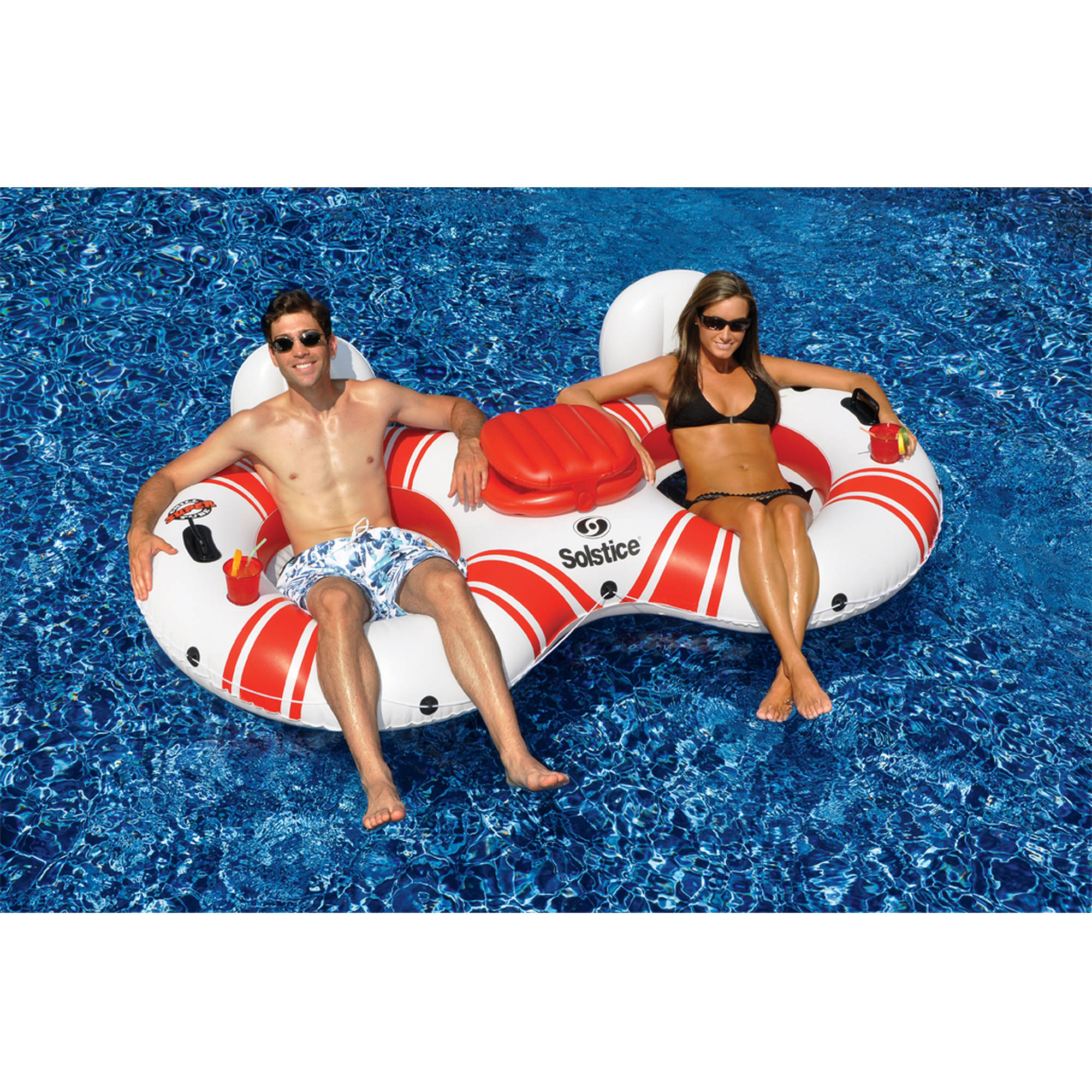 Solstice SuperChill Tube Duo Pool Float for Swimming Pools