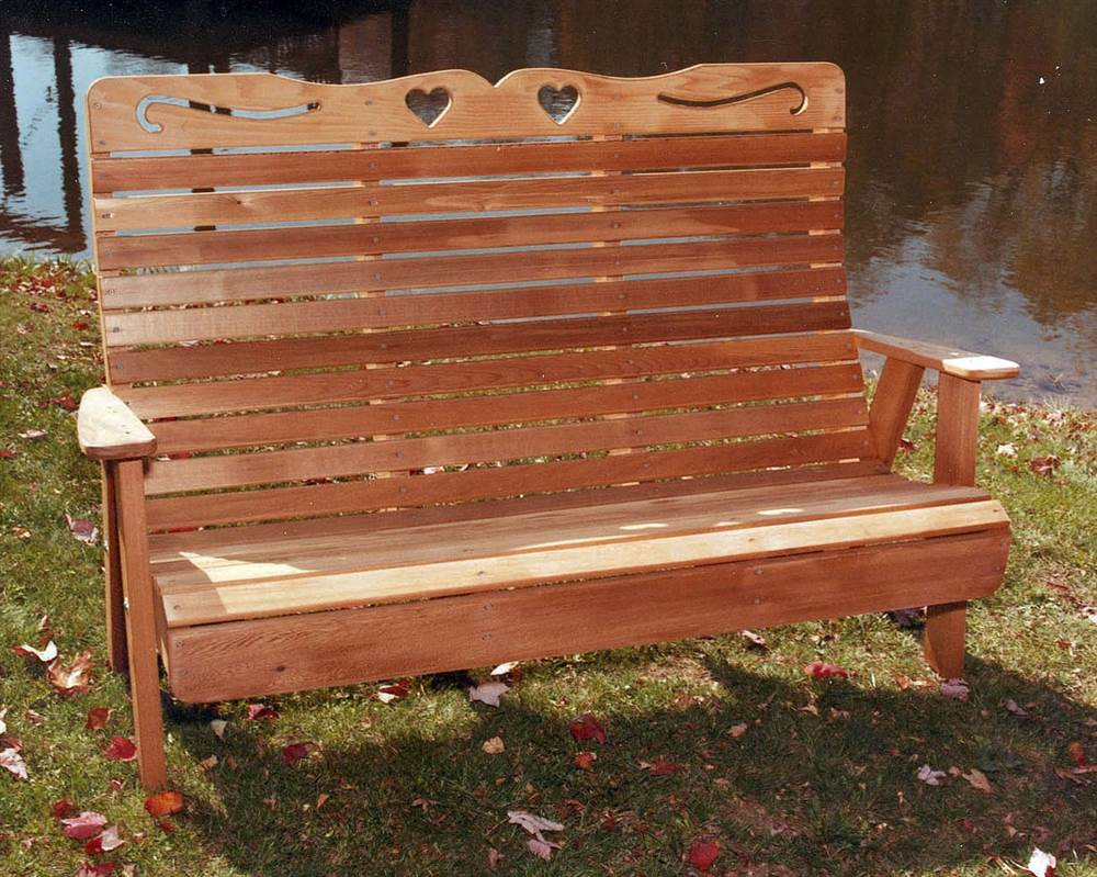 Country Hearts Garden Bench (Small) by Creekvine Designs