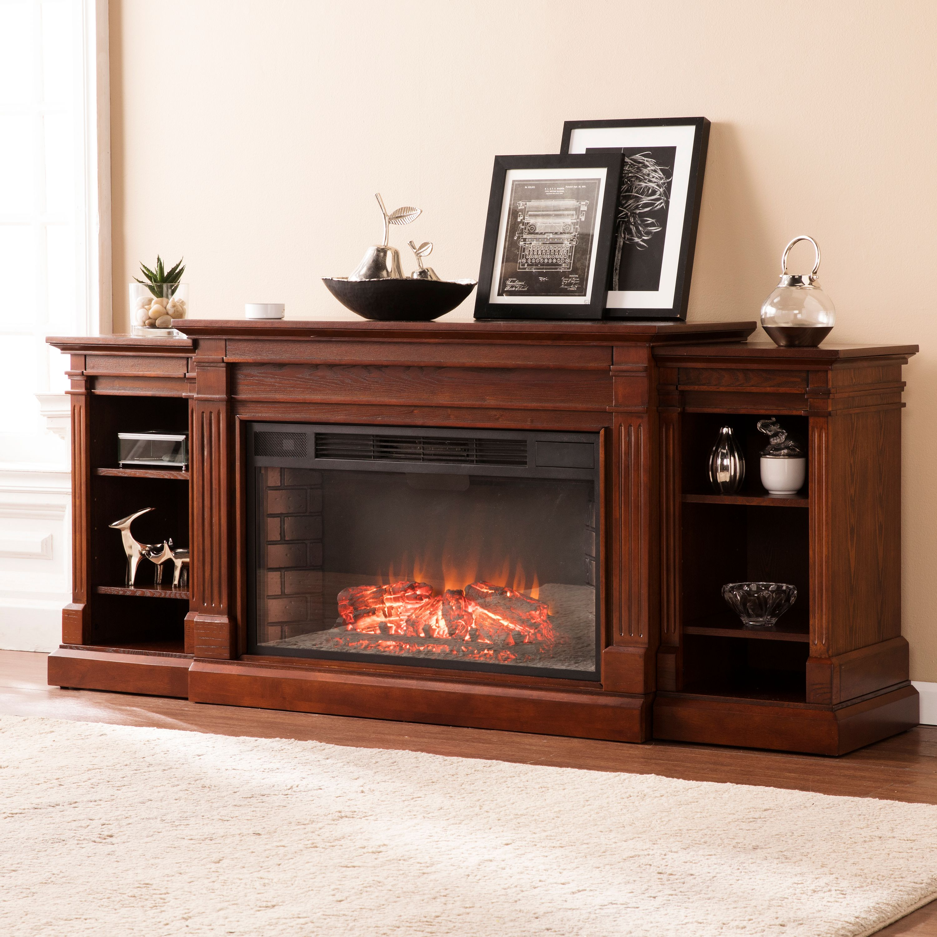 Ryhorn Low Profile Electric Fireplace, Espresso