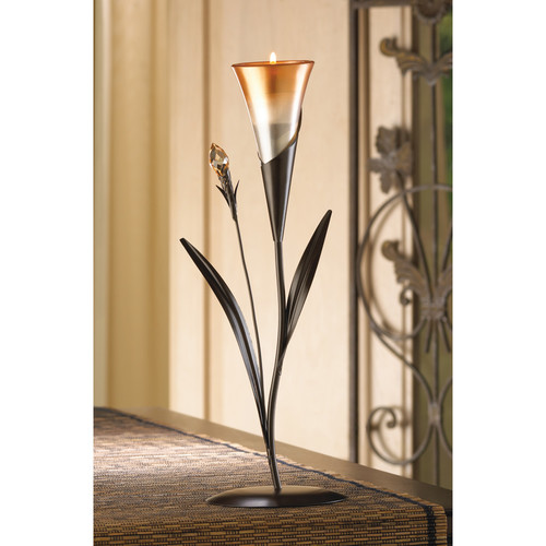 Zingz & Thingz Sparkling Lily Candle Holder