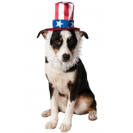 Uncle Sam Hat with Beard Pet Accessory