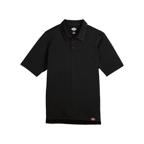 DICKIES Dickies - Industrial Work Tech Performance Ventilated Polo Color: Black Size: Medium