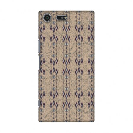(Sony Xperia XZ Premium Case - Tribal diamonds and marbles- Crystal blue, Hard Plastic Back Cover, Slim Profile Cute Printed Designer Snap on Case with Screen Cleaning Kit)