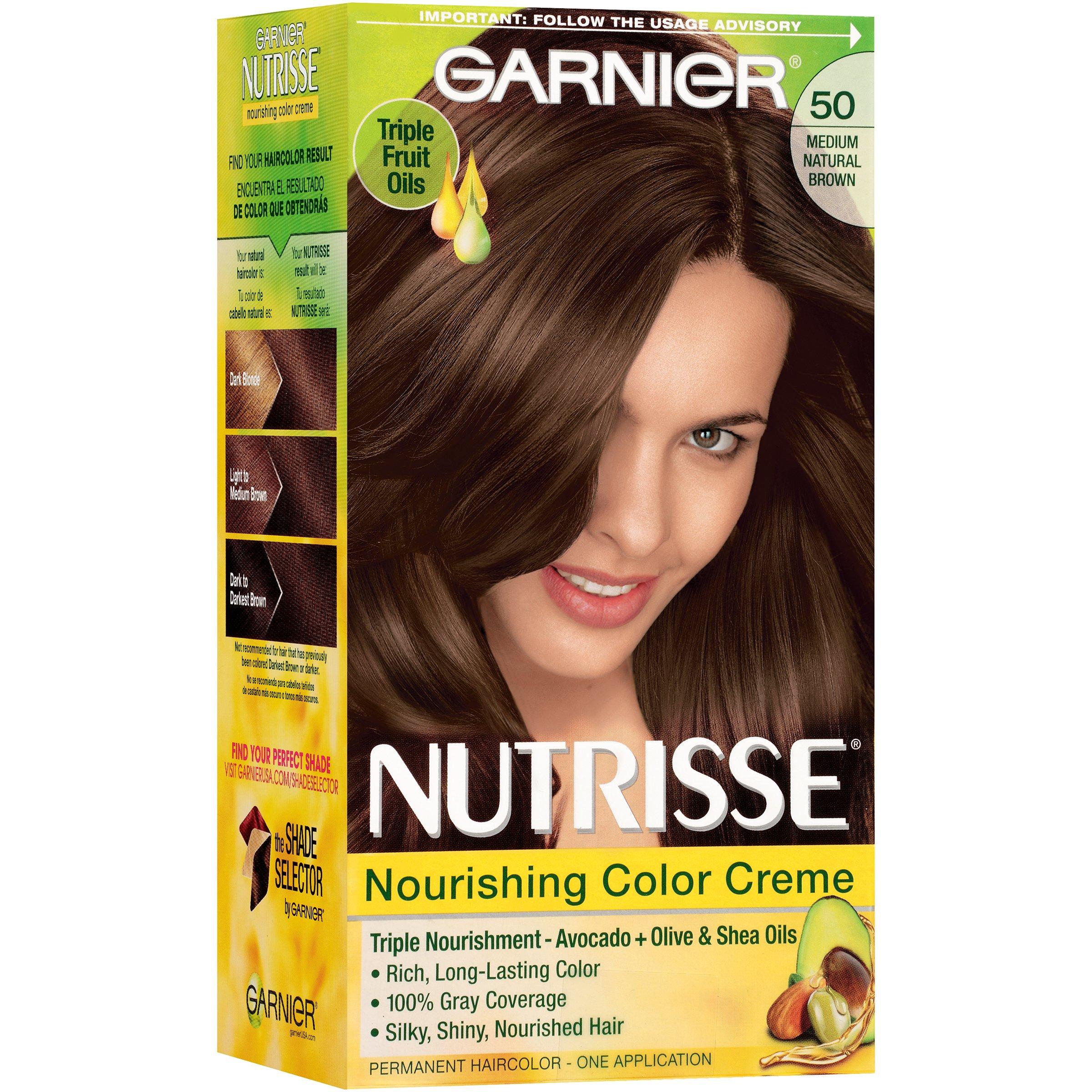 Garnier Nutrisse Nourishing Color Creme Hair Color 50 Medium Natural Brown