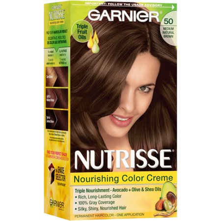 Garnier Nutrisse Nourishing Color Creme Hair Color 50 Medium Natural Brown