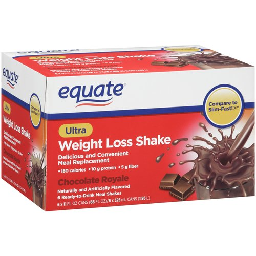 Equate Chocolate Royale Ultra Weight Loss Shakes, 11 fl oz, 6 pack