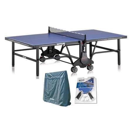 Kettler Champ 5 0 Outdoor Table Tennis Table With Outdoor Accessory Bundle