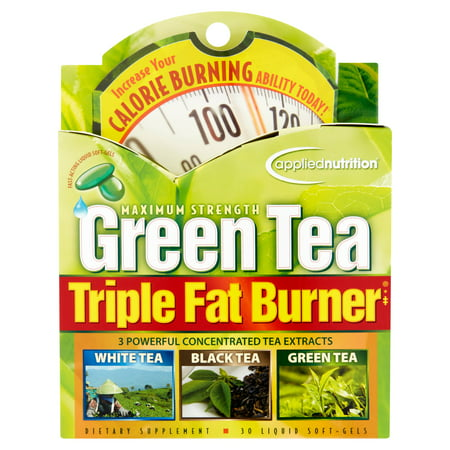 Applied Nutrition Maximum Strength Green Tea Triple Fat Burner Weight Loss Liquid Soft-Gels, 30