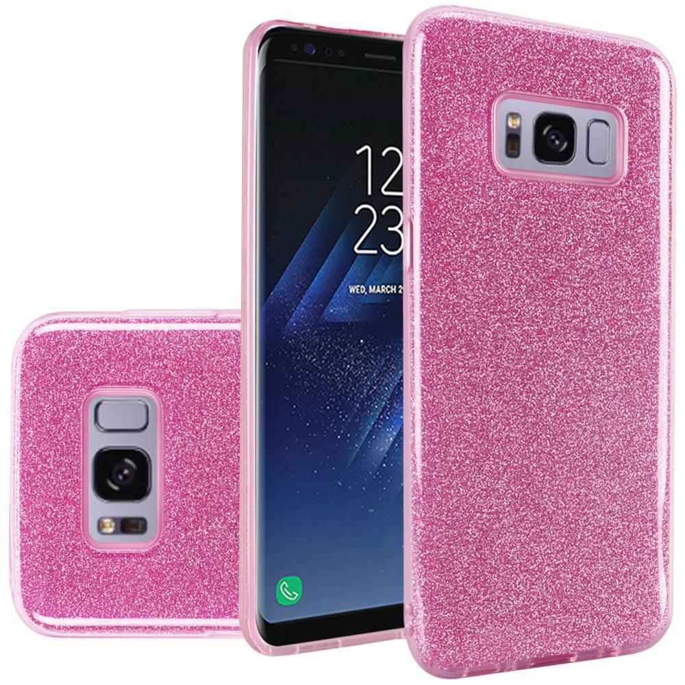Samsung Galaxy S8 Case - Wydan Slim Hybrid TPU Glitter Shock Resistant Skin Phone Cover Gold