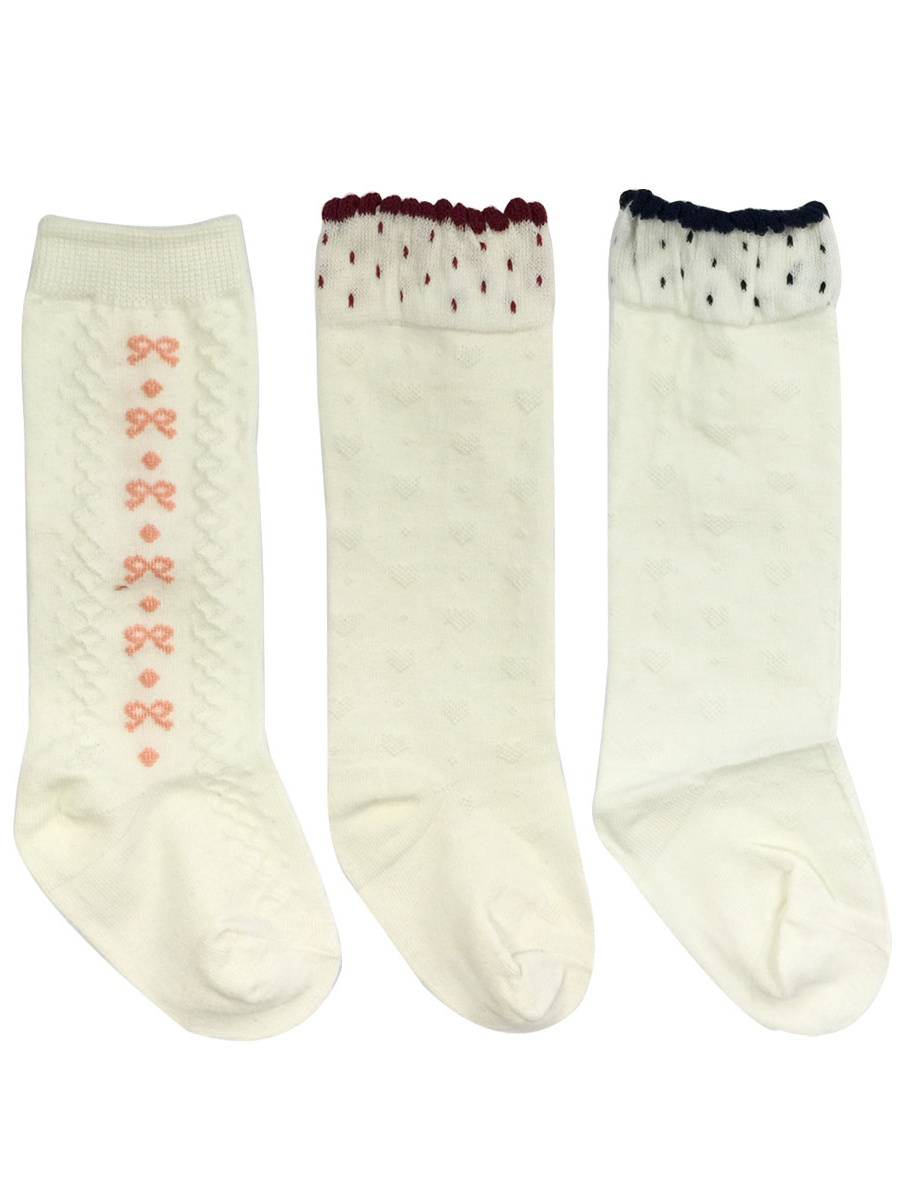 Wrapables® My Sweetheart Knee High Baby Socks (Set of 3), Hearts