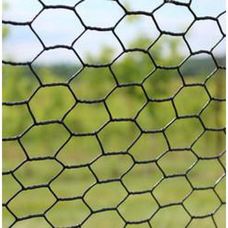 5' X 150' Steel Hex Web Black Pvc Coated Dog Fence