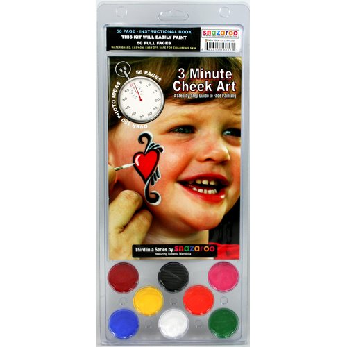 RUBY RED PAINT, INC. Face Paint and 56 Page How To Booklet, 3 Minute Cheek Art, 8 Face Paint Colors