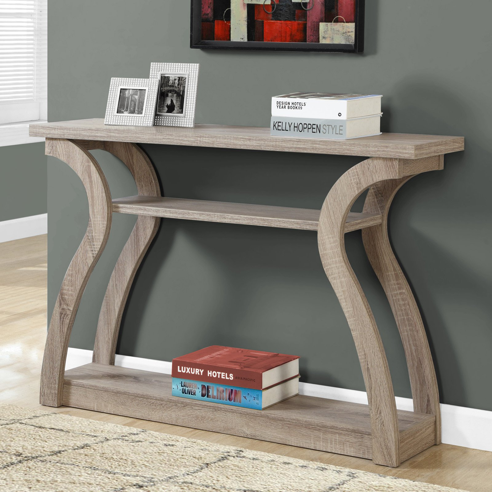 Monarch accent table 47l cappuccino hall console walmart com