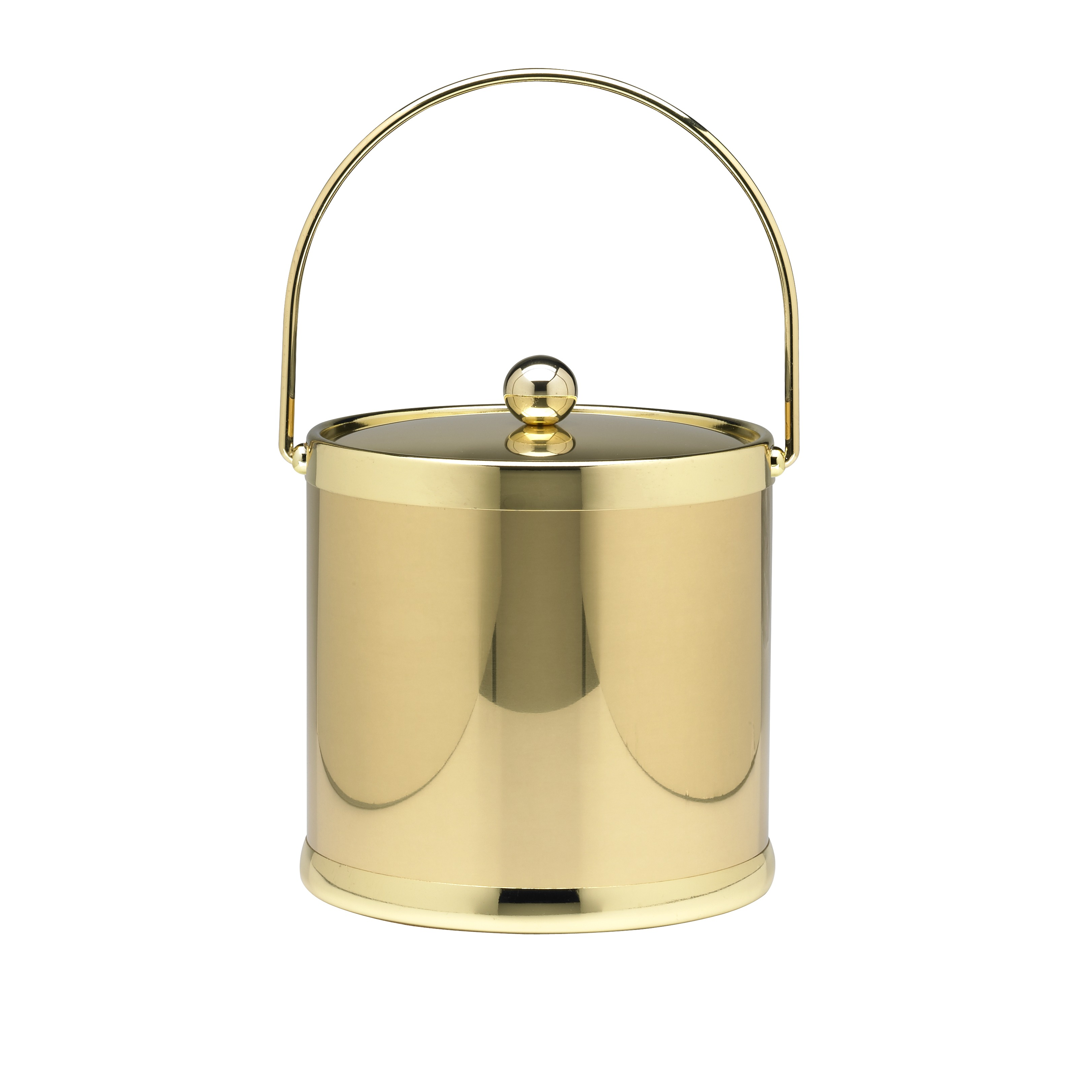 Americano 3 Qt Ice Bucket with Bale Handle in Brass by Kraftware Corporation