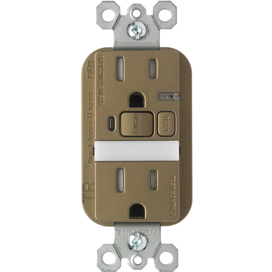 Pass And Seymour 15a Night Light Gfci Receptacle Nickel Walmartcom