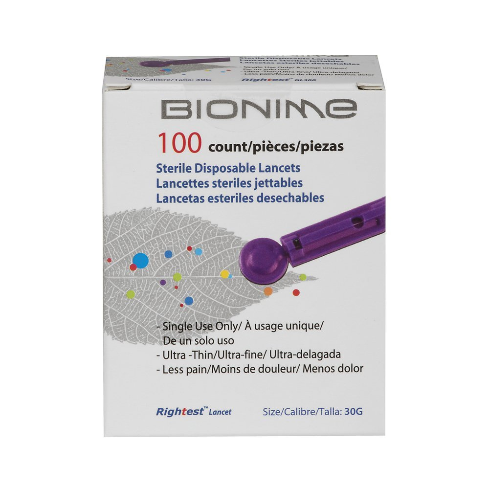 Veridian Bionime Lancet, 100 Ct., Veridian Bionime Lancets extract blood samples to monitor