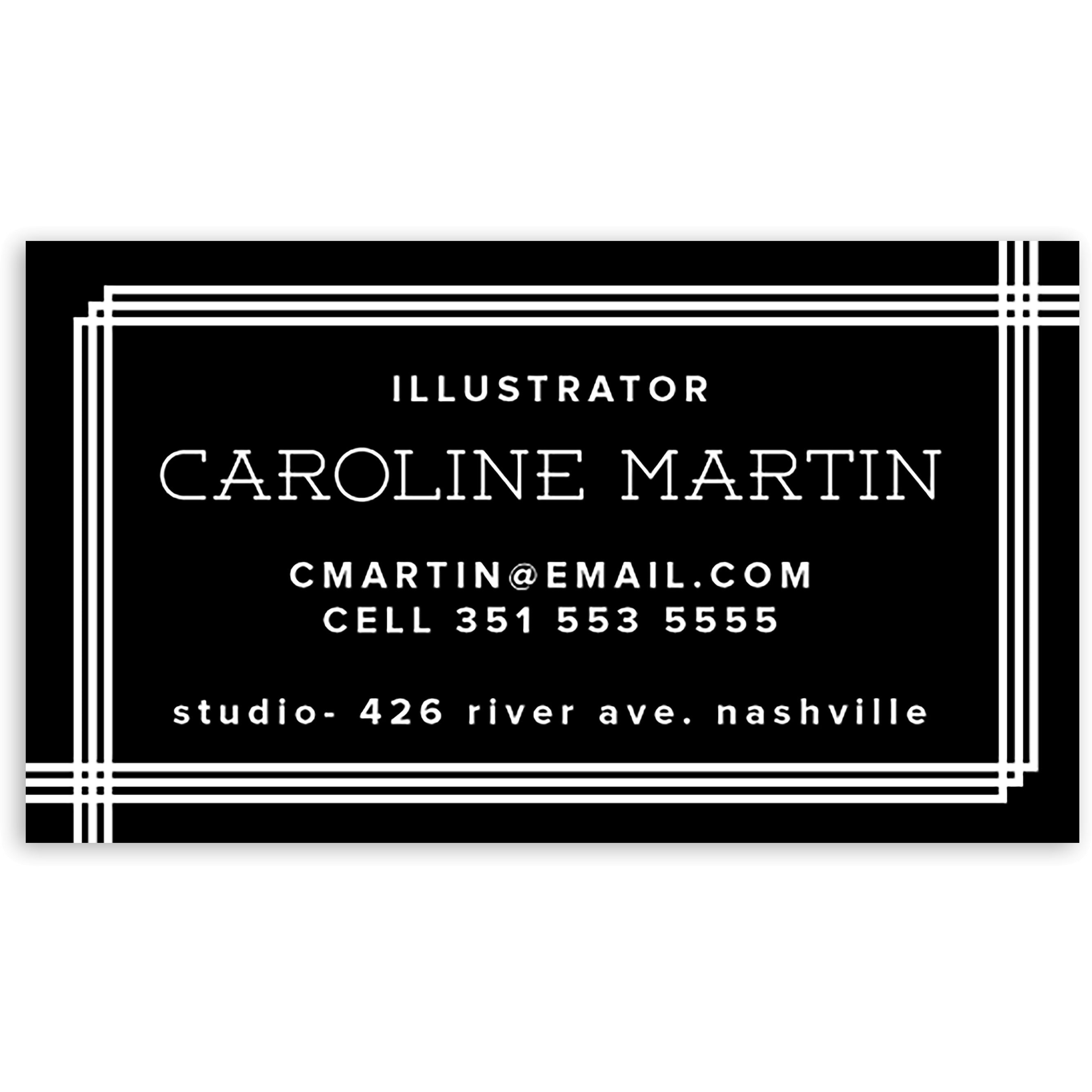 Tailored Sequence - Personalized 3.5 x 2 Business Card