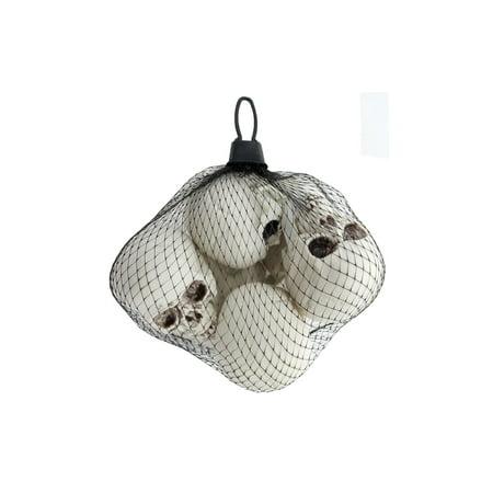 Plastic Skulls Mesh Bag 6pc - Buy Plastic Skull