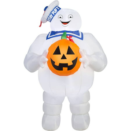 Halloween Pumpkin Carriage Inflatable (Gemmy Industries Yard Inflatables Ghostbusters: Stay Puft with Pumpkin, 5)