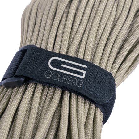 50' - Golberg Type III 7 Strand 550 MIL-C-5040-H Mil Spec Tested Paracord (Parachute Cord) : Outdoor Tie Down Rope - Desert Tan - Made in America (Ar 15 Magpul Desert Tan)