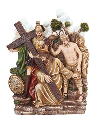 9.25 Inch Stations of The Cross Christ Kneeling Statue Figurine
