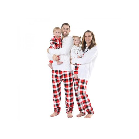 Nicesee Christmas Family Matching Pajamas Plaid Homewear for Men Women Kids  - Walmart.com 2d56127ae