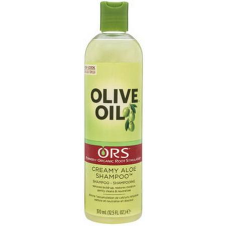 Org Aloe - Organic Root Stimulator Olive Oil Creamy Aloe Shampoo, 12.5 oz (Pack of 2)