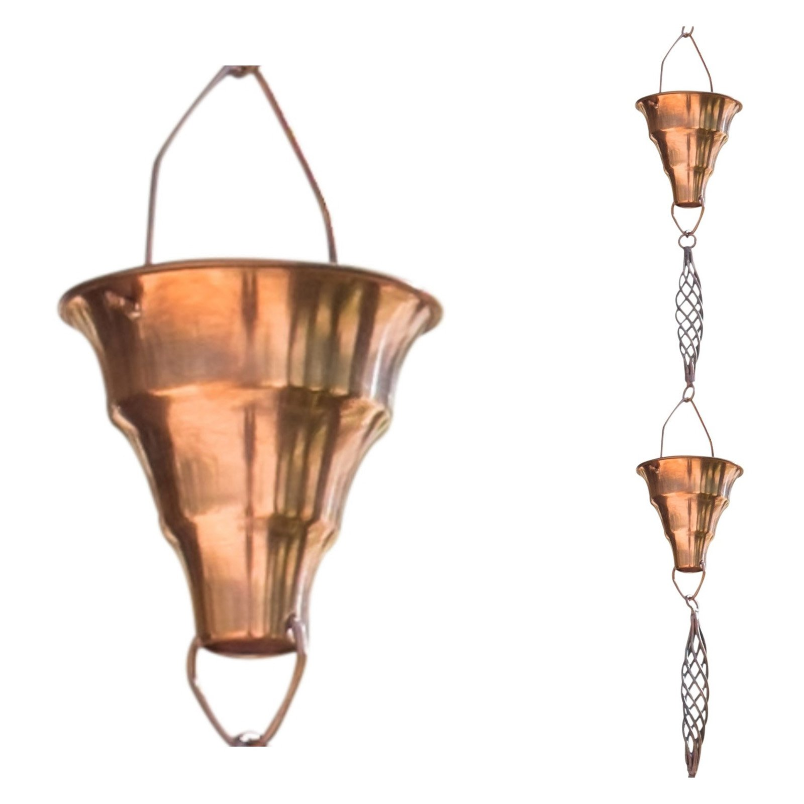 Monarch Pure Copper Tara Rain Chain - 8.5 ft.