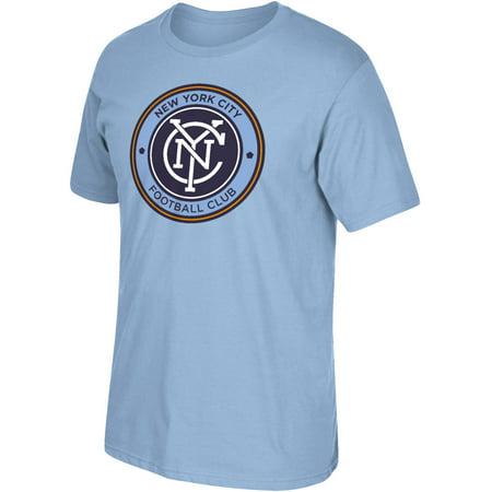 MLS NYC FC Mens Oversized Logo Short Sleeve Tee