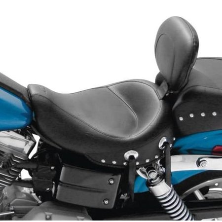 Mustang 79346 Wide Touring Studded Solo Seat with Driver Backrest