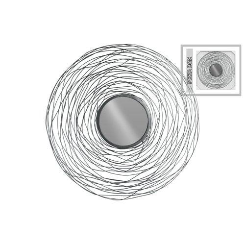 Orren Ellis Goslin Round Metal Wall Mirror with Spiral Lines Design ...