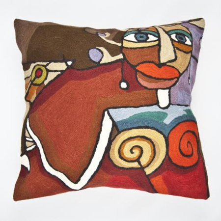 Decorative Pillow Cover Mcqueen Red Multi : Cashmere Crafts Handmade Red Multi-colored Martini Throw Pillow Cover(India) - Walmart.com
