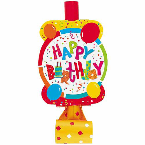 Birthday Jamboree Party Blowers, 8-Count
