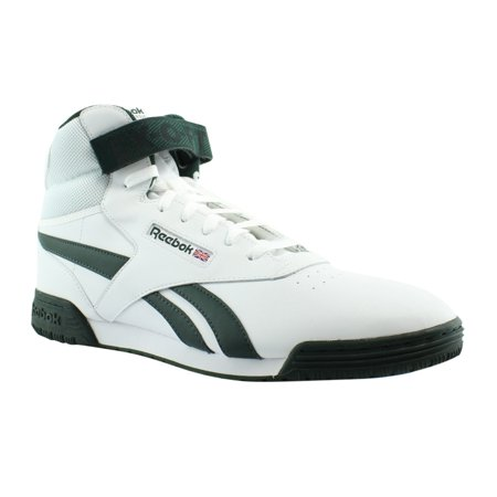 Reebok EX O Fit CLEAN HI S WhiteDark Forest Hi Tops Mens Athletic Shoes Size 13 New