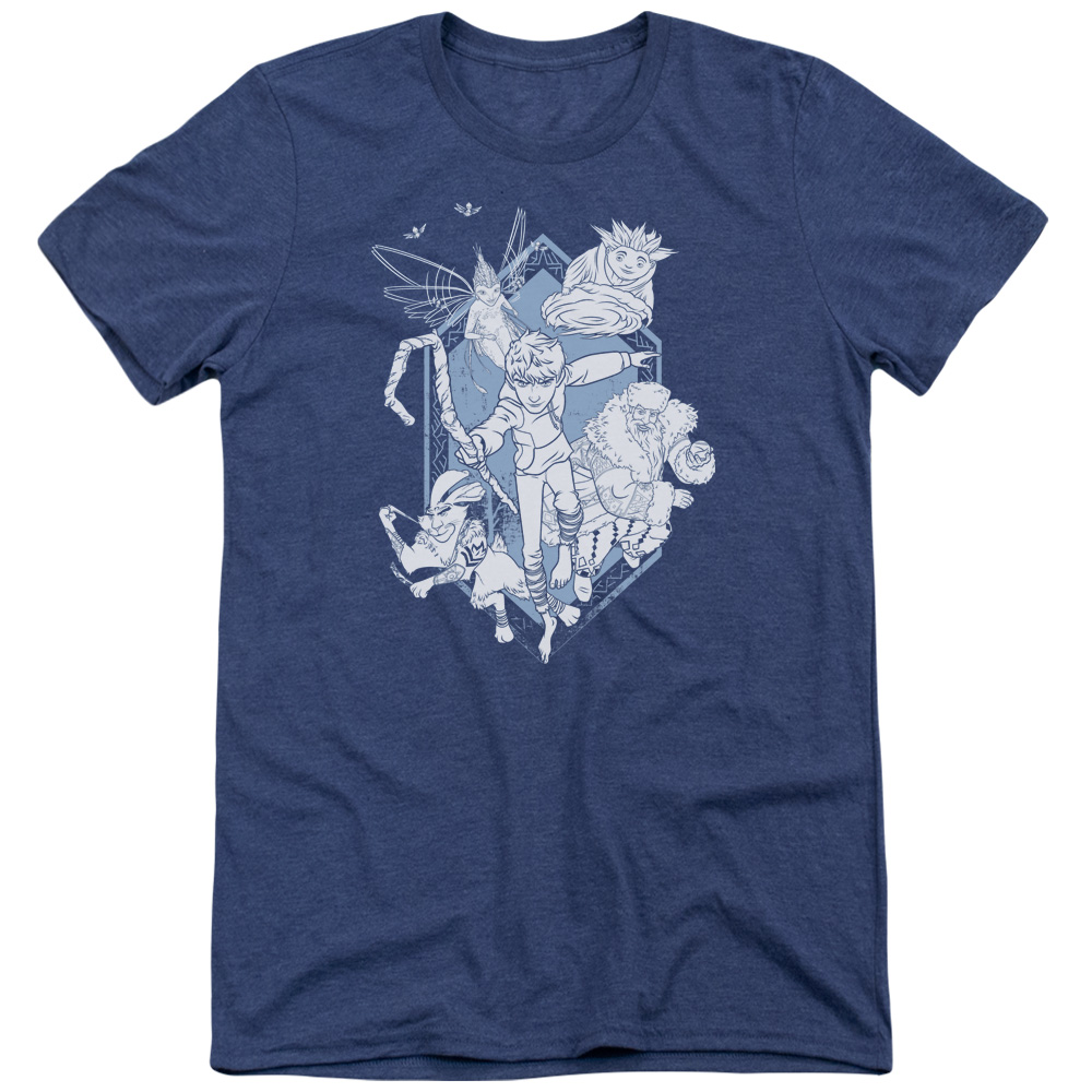 Rise Of The Guardians Coming For You Mens Tri-Blend Short Sleeve Shirt