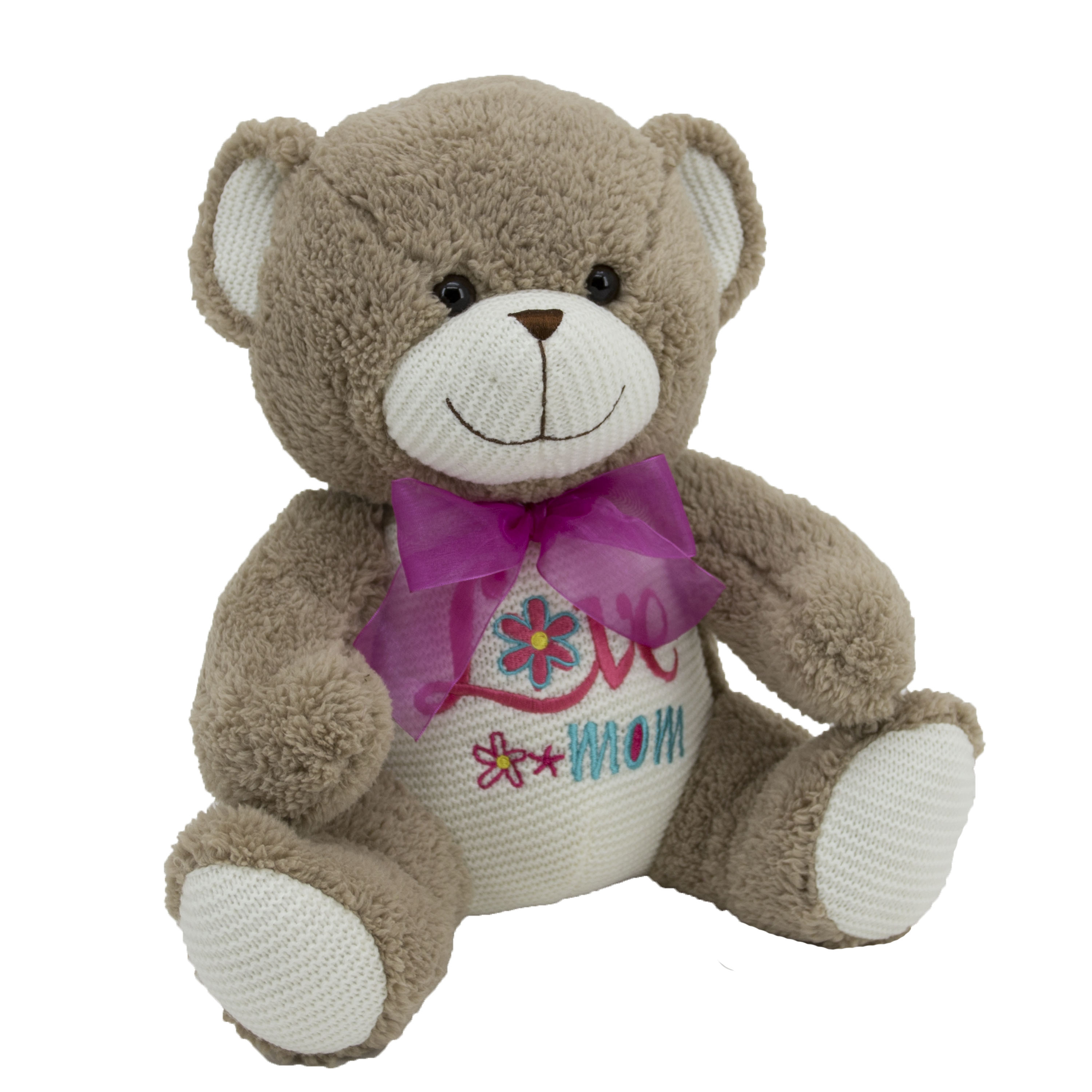 14-Inch Teddy Bear - Love Mom