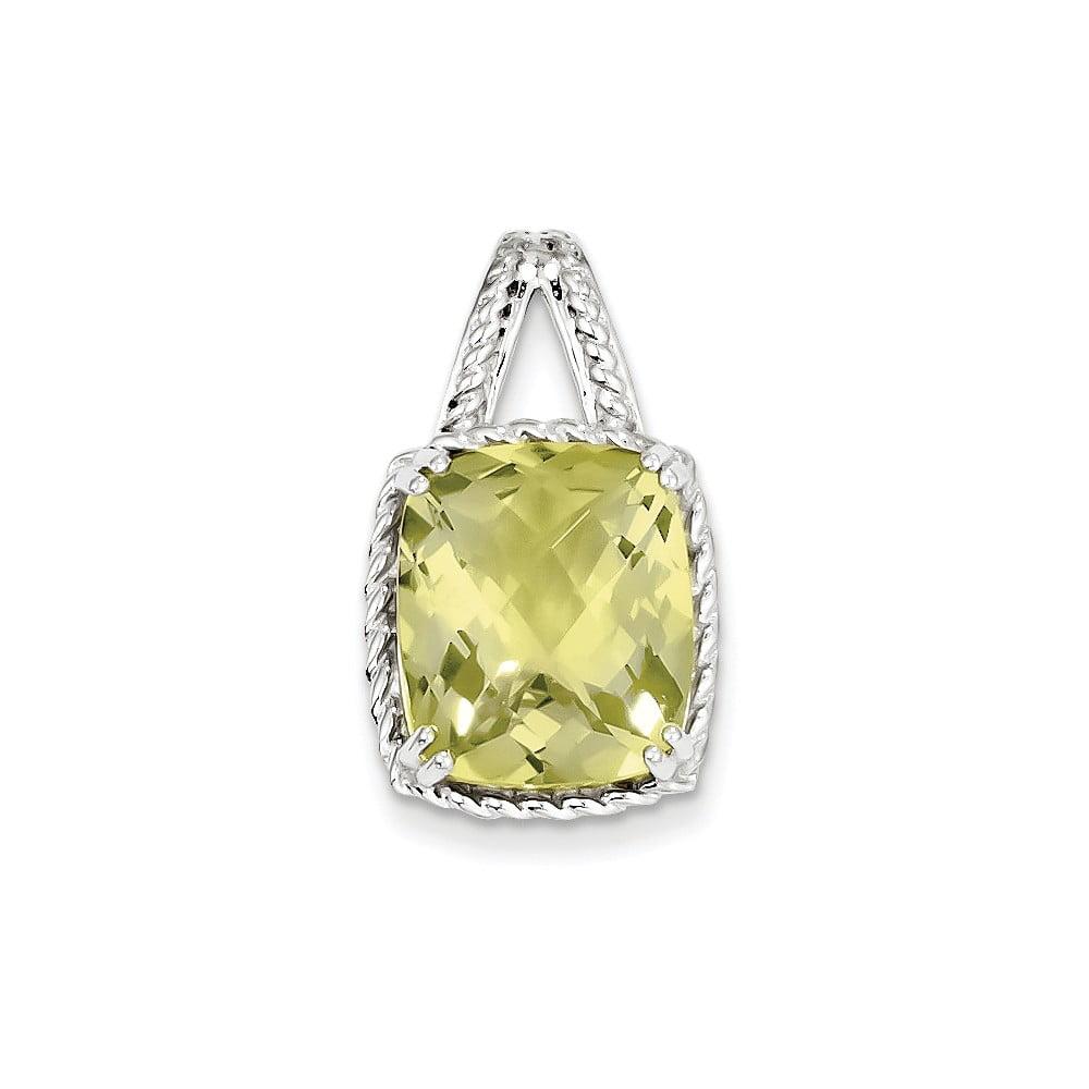 Sterling Silver Lemon Quartz Pendant. Gem Wt- 5.45ct