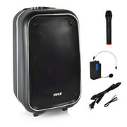 Pyle PWMA1225BT.5 - PA Loudspeaker Portable Stereo System, Karaoke Microphone Talkover, Recording Function, MP3/USB/Micro SD/FM Radio