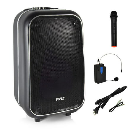Pyle PWMA1225BT - Bluetooth PA Loudspeaker Portable Stereo System, Karaoke Microphone Talkover, Recording Function, MP3/USB/Micro SD/FM Radio](micro stereo systems ratings)
