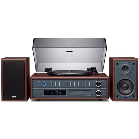 Teac 3 Speed Portable Turntable Vinyl Stereo System With