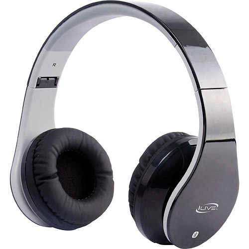 iLive IAHB64B Bluetooth Stereo Headphones with Microphone, Black