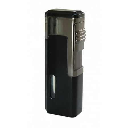 Tsunami Quad Torch Red Flame Lighter w/ Retractable Punch - (Torch Lighter Punch)