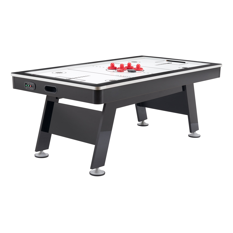 Airzone Air Hockey Table With High End Blower 80 Black And Chrome Walmart Com Walmart Com