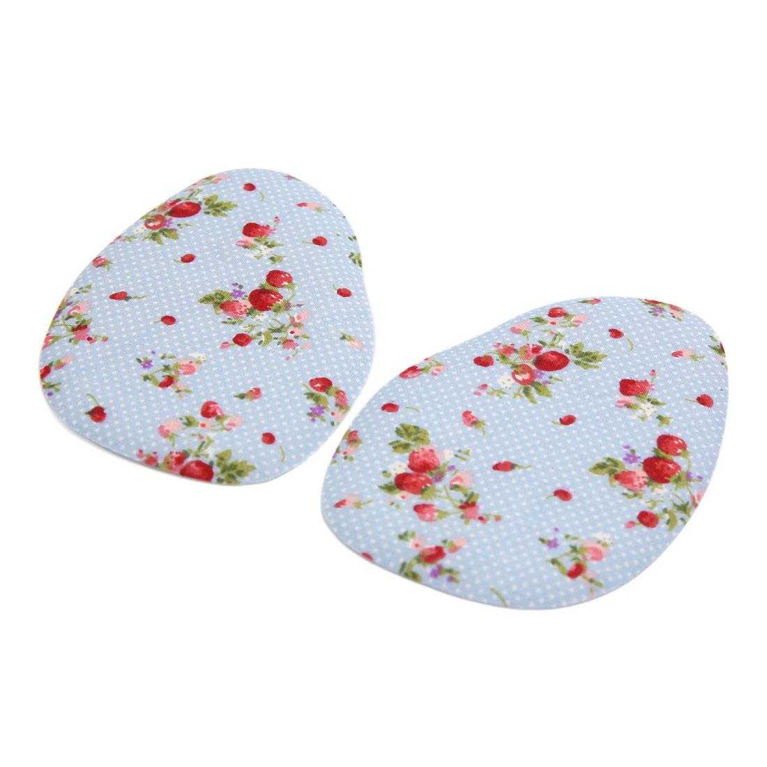 Image of 1 Pair Blue Silicone Floral Pattern High Heel Comfy Forefoot Pad Foot Cushion Insole