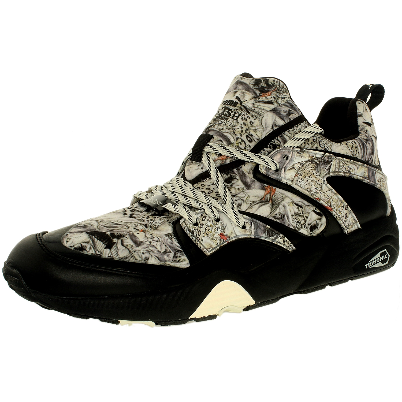 Puma Men's Blaze Of Glory X Swash Wta Black Low Top Fashion Sneaker - 12M