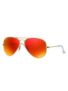 Ray-Ban RB3025 Classic Aviator Sunglasses, 58MM, Mirrror Lens
